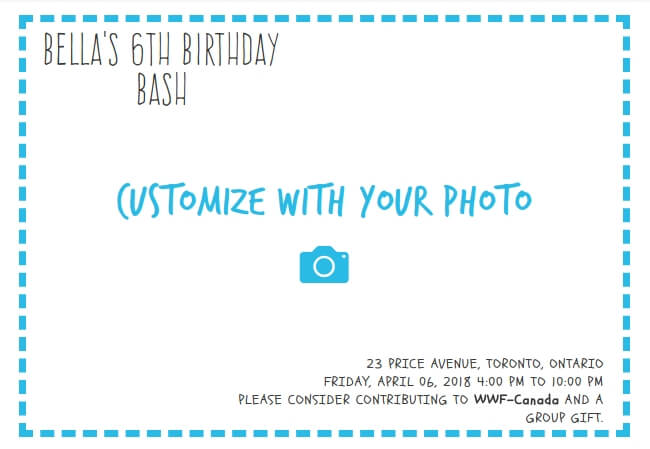 Create your own birthday party invitation online next step 261 sample stopboris Images